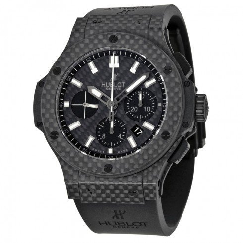 Hublot Big Bang Black Carbon Fiber Dial Automatic Chronograph Mens Watch 301QX1724RX