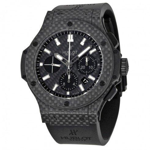 Hublot Big Bang Black Carbon Fiber Dial Automatic Chronograph Mens Watch 301QX1724RX