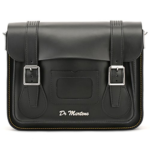 Dr. Martens Black Kiev Leather Satchel - 11-Inch by Dr. Martens