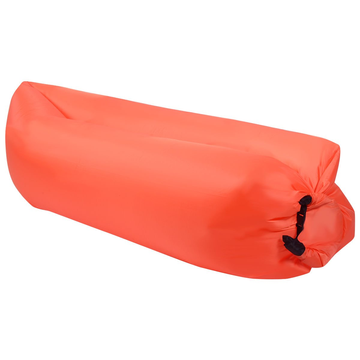 Eight24hours Outdoor Lazy Inflatable Couch Air Sleeping Sofa Lounger Bag Camping Bed Portable - Orange + FREE E - Book