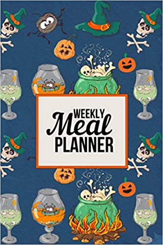 Halloween 2020 Steaming Weekly Meal Planner: Notebook With Grocery List (Cute Halloween