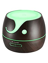 VicTsing 400ml Aroma Essential Oil Diffuser, Cute Elephant Shape Wood Grain Ultrasonic Cool Mist Humidifier with 7 Color LED Lights, Waterless Auto Shut-off for Office Home Room Yoga Spa BOBEBE Online Baby Store From New York to Miami and Los Angeles