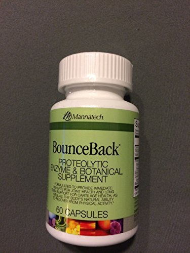 Mannatech Bounceback Proteolytic Enzyme & Botanical Supplement 60 Capsules by Mannatech