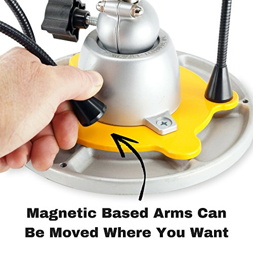 QuadHands Flex Plus - Panavise Third Hand Soldering Tool Add On with Movable & Flexible Steel Gooseneck Arms | 4 Magnetic Arms and Steel Base Plate Integrates Seamlessly with Panavise Work Stations by QuadHands (Image #3)