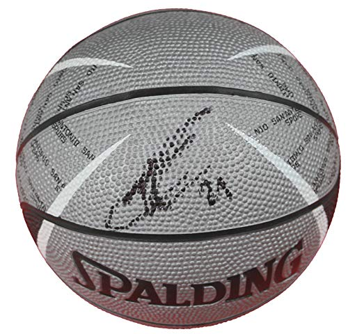Tim Duncan San Antonio Spurs Signed Autographed Spalding Spurs Logo Mini Basketball