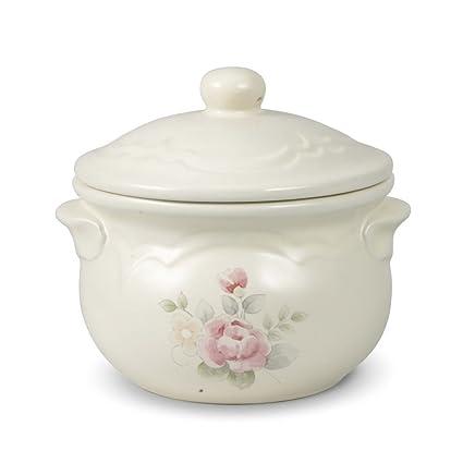 Amazon.com | Pfaltzgraff Tea Rose Individual Soup Crock with Lid ...