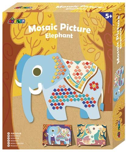 Avenir–ch1458mosaïque éléphant, Couleur coloré (14) Couleur coloré (14)