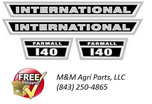 IH FARMALL 140 TRACTOR HOOD DECAL SET IH INTERNATIONAL HARVESTER TRACTOR (Hood Set Decal)