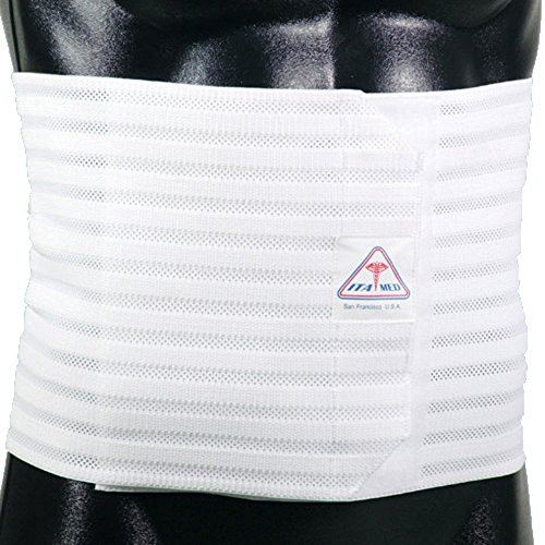 ITA-MED Men's Breathable Elastic Abdominal Binder, 9 Inches Wide