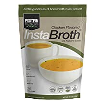 InstaBroth, Collagen and Gelatin Rich Bone Broth Powder with 12g Protein (6.4oz)(Chicken)