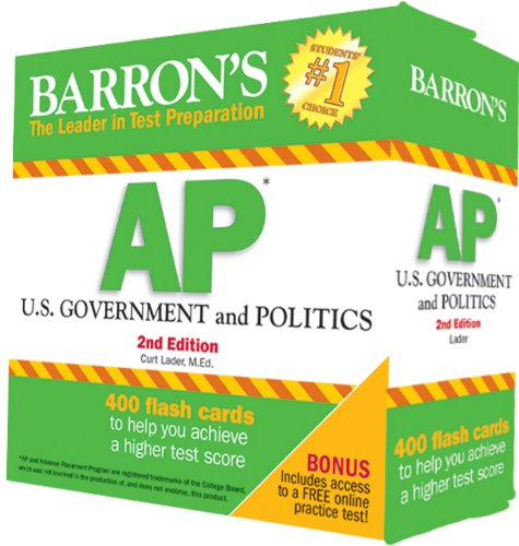 Barron's AP U.S. Government and Politics Flash Cards, 2nd Edition