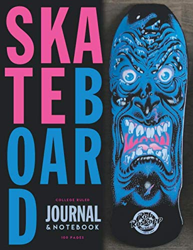 Skateboard: 80's Skateboard  deck  appreciation  journal / notebook to write in and record your thoughts. (Thrasher Tattoo)