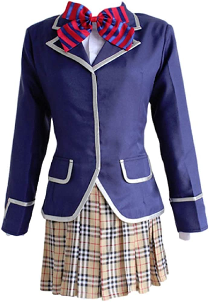 GK-O Food Wars Shokugeki no Soma Erina Nakiri Cosplay Costume JK School Uniform