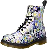Dr. Martens Women's Pascal 8 Eye Slime Floral Lace Up Leather Boots