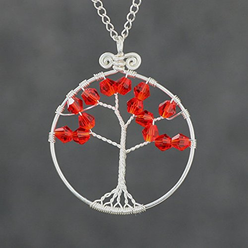 - NewDreamWorld Customized Tree of Life Necklace With 18 Inch 925 Silver Chain, 1.4