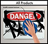 out of service signs - SmartSign Aluminum OSHA Safety Sign, Legend