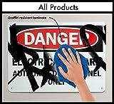 "SmartSign Adhesive Vinyl OSHA Safety Sign, Legend ""Danger: Laser Radiation Avoid Exposure"", 7"" high x 10"" wide, Black/Red on White"