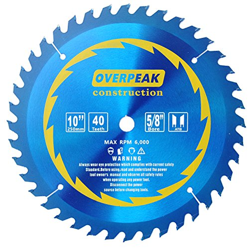 Kerf Table Saw (Overpeak 10 Inch 40 Tooth ATB 5/8