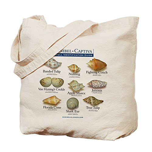 Junonias Seashell (CafePress - Shell I.D. Guide Tote Or Beach Bag - Natural Canvas Tote Bag, Cloth Shopping Bag)