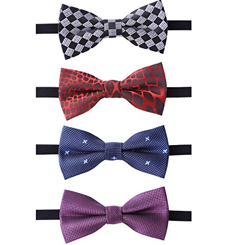 Infant Bowties (JIMUKEE Baby Boys Toddler Kids Pre-tied Bow Tie With Adjustable Neck Strap Pack (D))