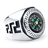 Qiao La Men's Stainless Steel EDC Outdoor Travel Compass Rings QL850 (8)