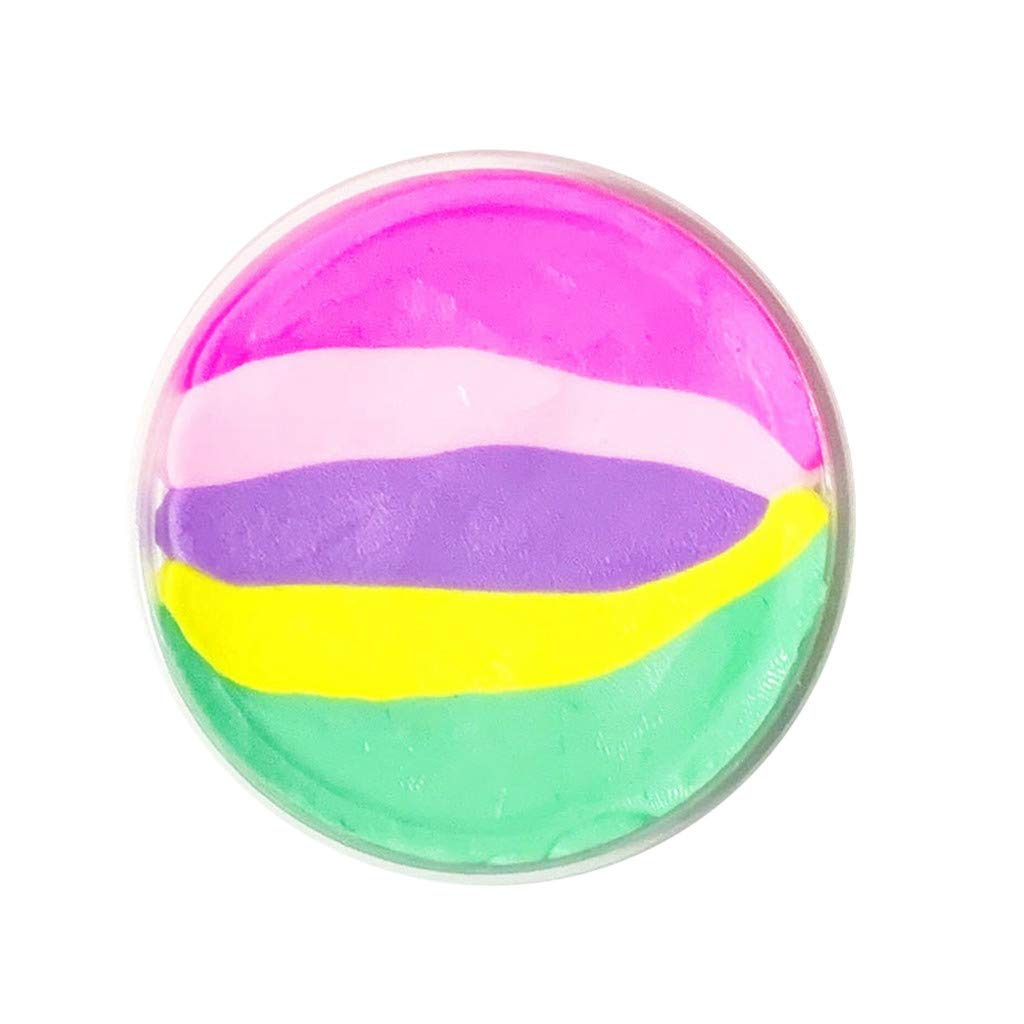 1 PC 60ml Beautiful Color Butter Slime Rainbow Birthday Cake Slime Kids Relief Stress Toys Children Kid Funny Toy Gift 2019 New (C)