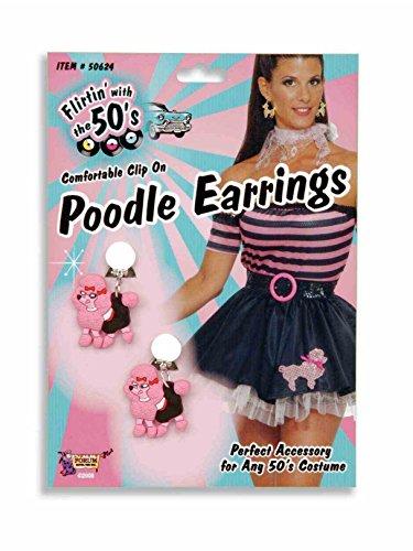 Forum Novelties 62236 Pink Poodle Earrings ()