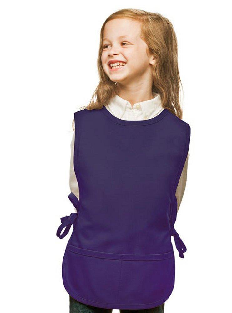 Purple Kids Art Smock, Cobbler Apron, Poly/Cotton Twill Fabric (Regular)