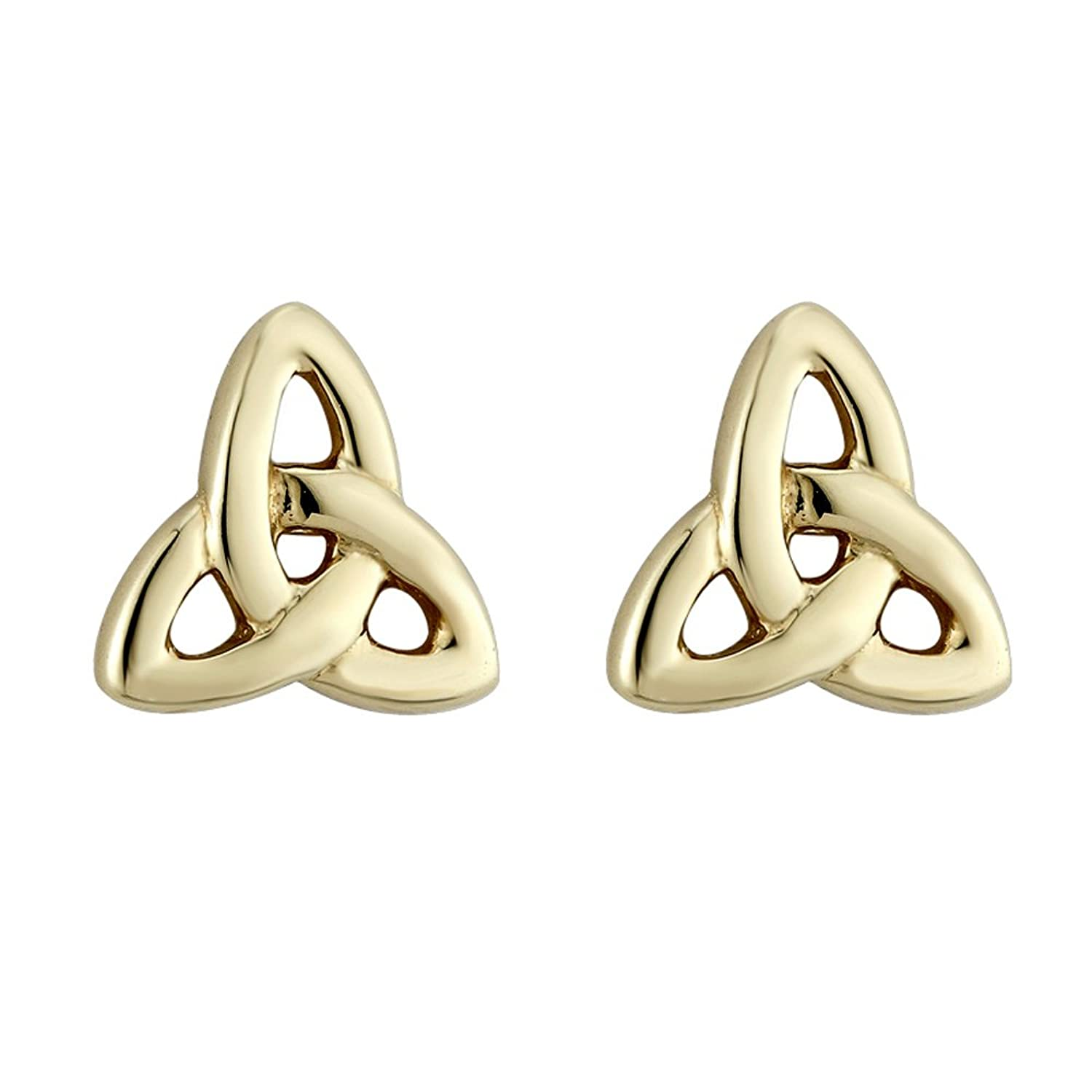large products earrings celtic jewellers knot style gold webbs