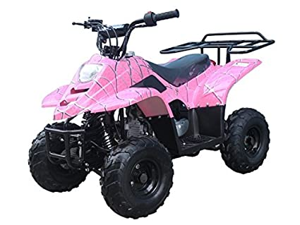 amazon com 110cc atv four wheelers fully automatic 4 stroke engine