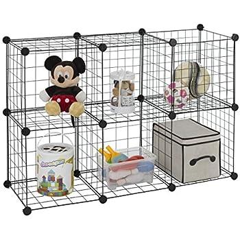 Great Finnhomy 6 Storage Cubes Multi Use DIY Wire Grid Organizer Closet Organizer  Shelf Cabinet Wire Grids