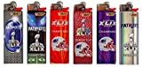 Bic NFL New England Patriots Lighters Super Bowl Champion Designs (Pats Super Bowl 6pk)
