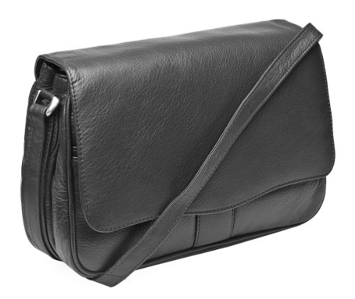 Organiser Cross Range Hide Leather Bag Black Ladies Body Victoria Soft Prime x0q6gnFYn