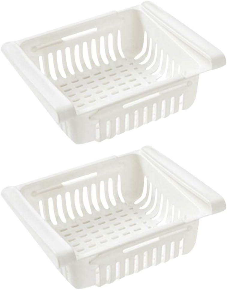 Ausziehbare K/ühlschrank Schublade Organizer Einstellbare Lagerregal K/ühlschrank Partition Layer Organizer Beige, 1 PC K/ühlschrank Lebensmittel Aufbewahrungsbox FENG K/ühlschrank Organizer Box