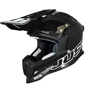 Just 1 J12 Mister X Helmet, Gender: Mens/Unisex, Helmet Type: Offroad Helmets, Helmet Category: Offroad, Distinct Name: Carbon, Primary Color: Black, Size: Md J1J388BKCBM by Just 1