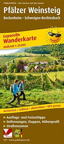Pfälzer Weinsteig, Bockenheim - Schweigen-Rechtenbach: Leporello Wanderkarte mit Ausflugszielen, Einkehr- & Freizeittipps, wetterfest, reißfest, ... 1:25000 (Leporello Wanderkarte / LEP-WK) Landkarte – Folded Map, 1. Oktober 2016 Pfälzer Weinsteig reiß