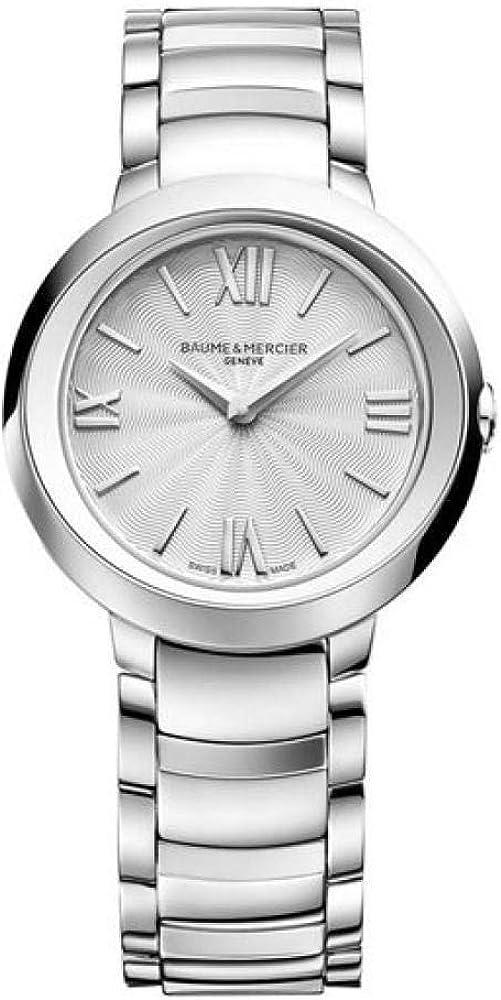 Baume&Mercier Reloj Analógico para Mujer de Cuarzo con Correa en Acero Inoxidable M0A10157