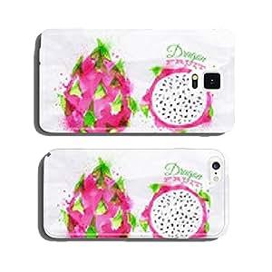 Exotic fruit watercolor dragon fruit, rambutan, mangosteen cell phone cover case iPhone6 Plus