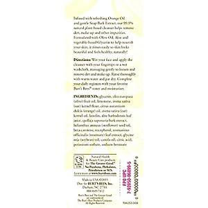 Burt's Bees Orange Essence Facial Cleanser, 4.34 Ounces, Pack of 3