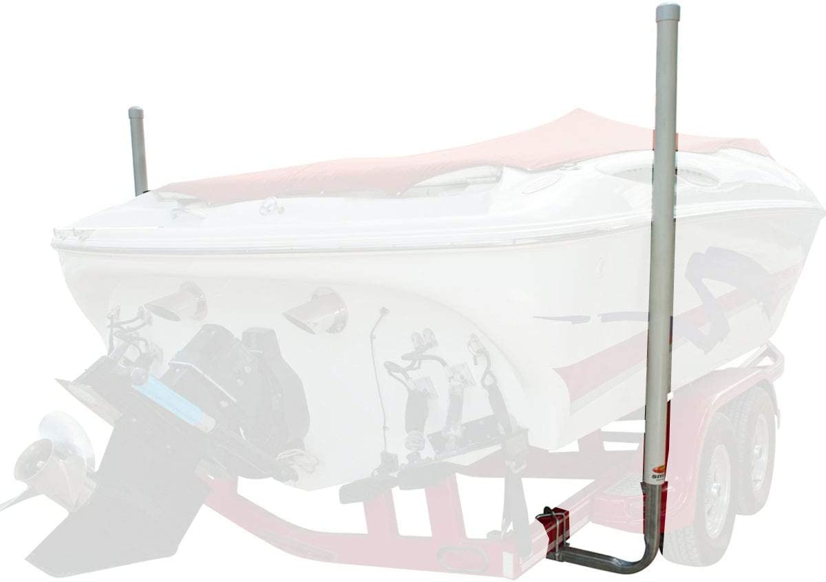 Boat Trailer Post Guide Galvanized Pole Kit Mount Hardware Easy Sturdy Outdoor