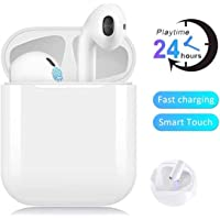 Cuffie Bluetooth,Auricolari Bluetooth 24h Playtime 3D stereo HD Cuffie Wireless, Binaurale Call auto Pairing,Con Scatola di Ricarica,Per Samsung / iPhone11 / Android / AirPods