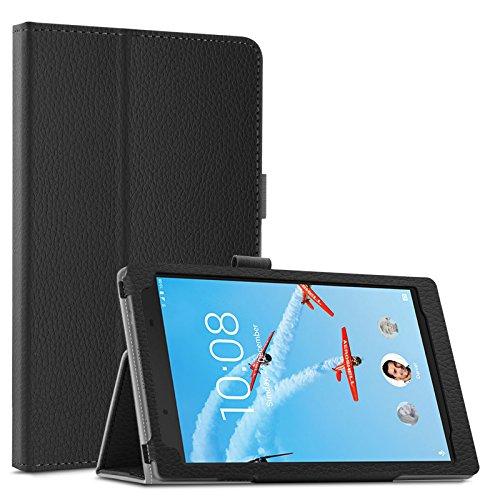 Infiland Lenovo Tab 4 8 / Tab 4 8 Plus Case - Premium Folio Smart Light Weight Stand Cover for Lenovo Tab 4 8 / Tab 4 8 Plus 8 Tablet 2017 Release, Black