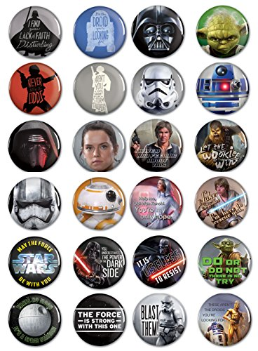 STAR WARS 24 Button Pack from WinCraft