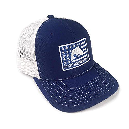 State Homegrown Bass Flag Trucker Hat (State Flag Trucker Hat)