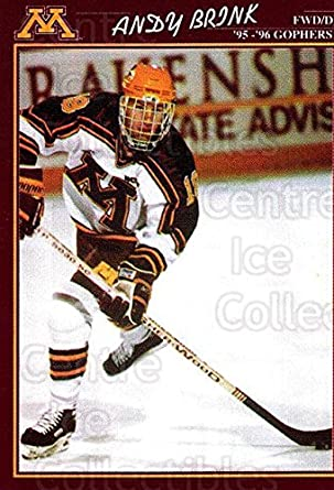 a388991aa (CI) Andy Brink Hockey Card 1995-96 Minnesota Golden Gophers 8 Andy Brink