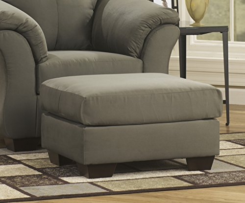 Contemporary Style Darcy Sage Collection Fabric Upholstery Living Room (Upholstery Living Room Ottoman)