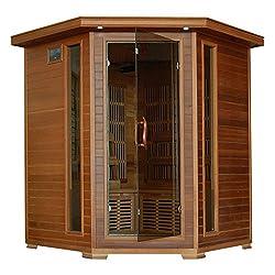 Radiant Sauna 4 Person Cedar Corner Infrared Sauna