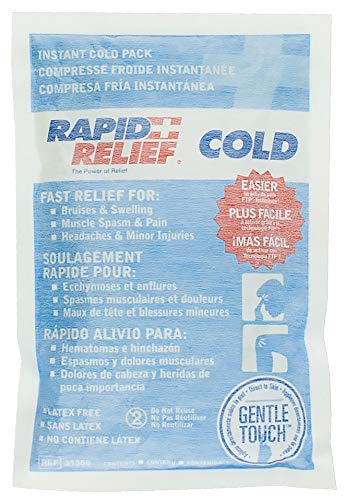 Rapid Relief RA31359 Instant Cold Pack C/W Gentle Touch Technology, Large, 5' x 9' 5 x 9 Rapid Aid Range 80100K