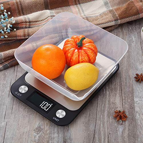 Nesee Digital Kitchen Scale Multifunction Food Scale for Cooking and Baking, Grams and Ounces, 11lb/5kg Capacity, 0.05oz/1g Increment (A) ()