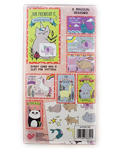 32 Magical Unicorn Trendy Valentine Day Sharing Cards with Tattoos Photo #2
